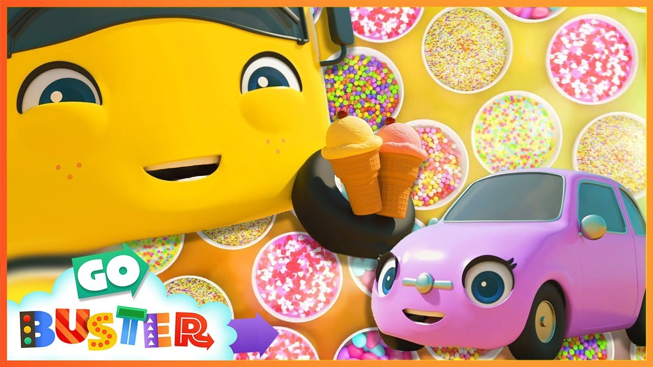 We Love Ice Cream | Go Buster | Baby Cartoons | Kids Videos | ABCs and 123s