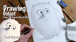 Drawing Gidget from The Secret Life of Pets time lapse