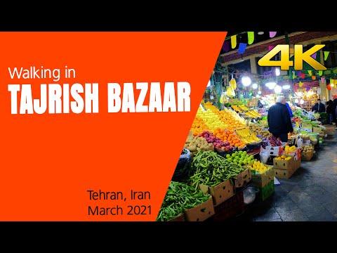 Walking in Tajrish bazaar, Tehran, Iran. 4K 60fps