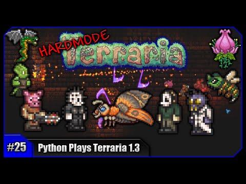 Python Plays Terraria || Plantera & The FULL 1.3 Solar Eclipse! || Terraria 1.3 PC Let's Play [#25]