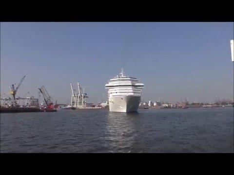 Costa Pacifica Erstes Einlaufen in Hamburg 2016