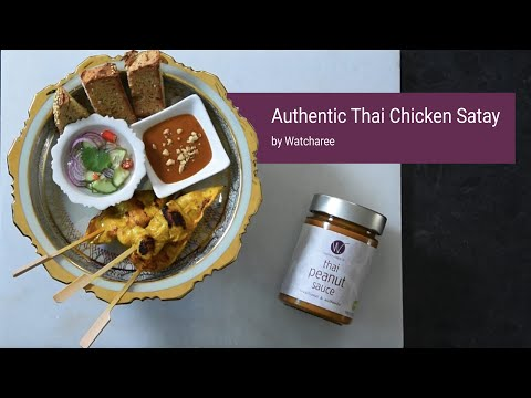 Authentic Thai Chicken Satay with Thai Peanut Dipping Sauce   Step by Step Recipe