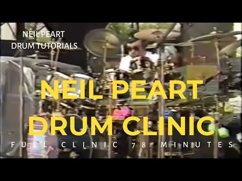 Neil Peart 1992 Drum Clinic - Full Video (with A/V sync issue fixed) 78 minutes
