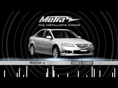 Metra Mazda 6 2003-2008 Kits 99-7523S & 99-7524B