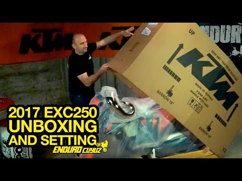 Unboxing and Settings 2017 KTM EXC 250