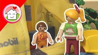 Playmobil Film deutsch Camping im Garten / Zelten / Familie Hauser Kinder Spielzeug Filme