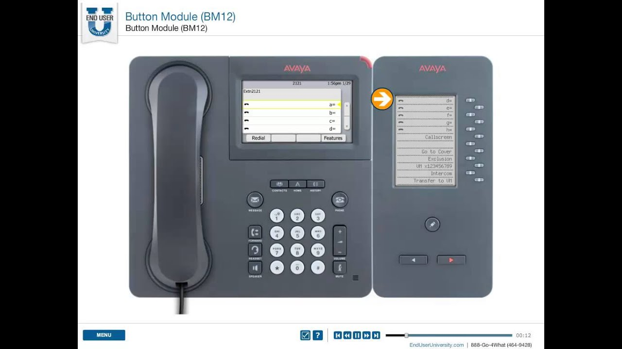 Avaya BM12 Expansion Button Key Modul Tastenerweiterung