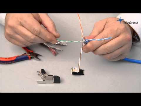 Field assembly RJ45-plug MFP8 Cat.6A assembly | Telegartner