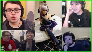 streamers React to C9 Sneaky Dark Lux Cosplay - Best of LoL Streams #319