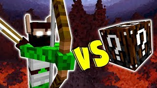 ELFO CAÇADOR VS. LUCKY BLOCK INCRIVEL (MINECRAFT LUCKY BLOCK CHALLENGE ELF HUNTER)