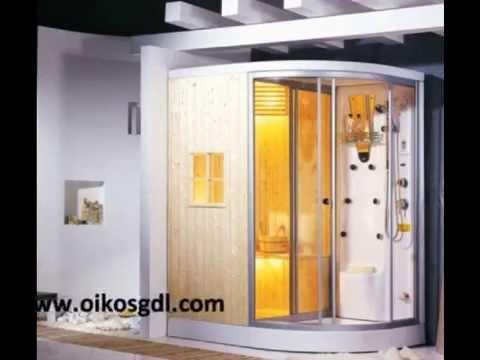Cabinas baño con hidromasaje vapor castel oikos design   youtube