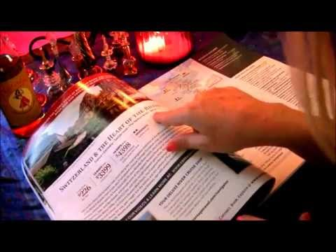 TRAVEL AGENT ROLE PLAY ~*~ Agence de Voyage ~*~ ASMR Page Turning in French (francais)
