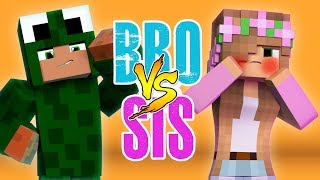 BROTHER VS SISTER - WOULD YOU RATHER Minecraft w Little Kelly