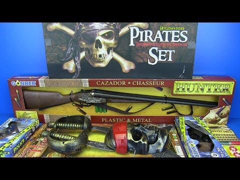 Guns Toys For Kids !! Pirates Set,Police & Hunter Guns - Video For Kids