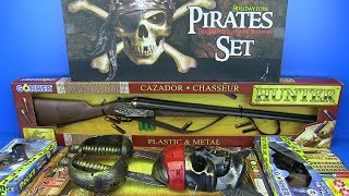 Guns Toys For Kids Pirates Set,Police Hunter Guns Video for Kids