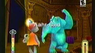 Monsters Inc Scream Team playstation game commercial