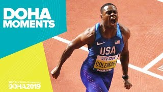 Coleman wins the 100m | World Athletics Championships 2019 | Doha Moments