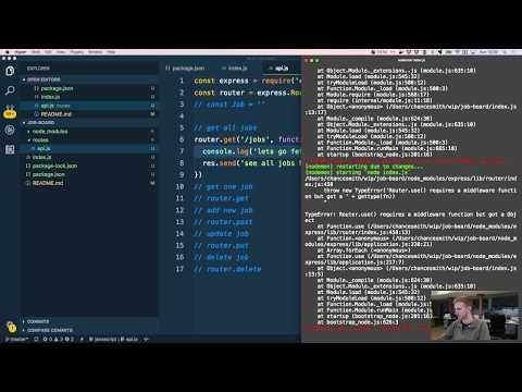 Create a Node.js API - Job Board