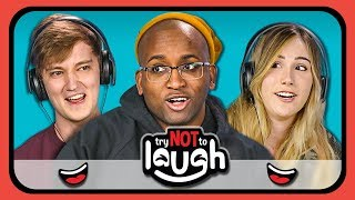 YouTubers React to Try to Watch This Without Laughing or Grinning #13