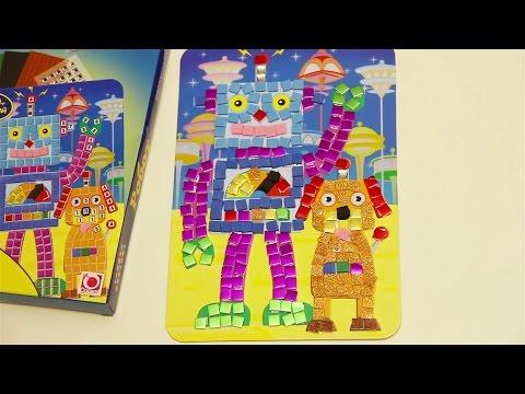 Ролик Умная мозаика Робот от The Orb Factory для детей от 4 лет. Развитие мелкой моторики рук