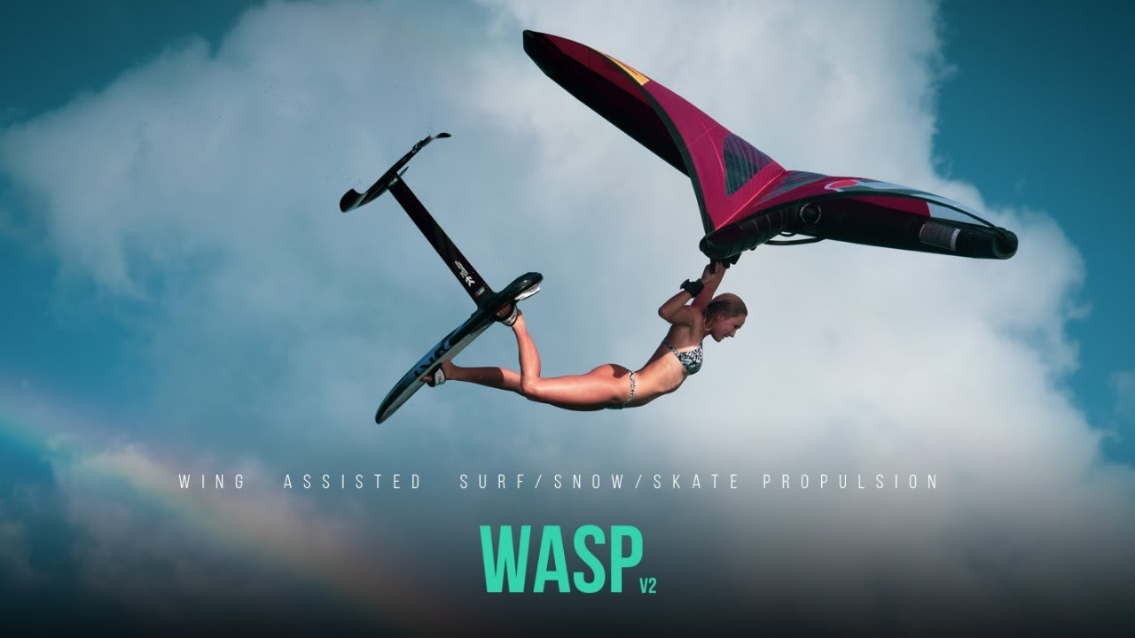 Ozone Wasp V2 - Wing Assisted Snow/Skate/Surf Propulsion