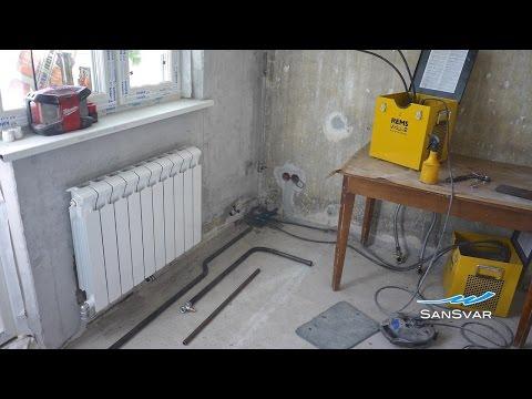 Замена радиаторов отопления: Заморозка + Газосварка
