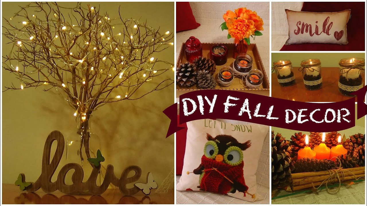 Diy easy fall room decor i easy room decor ideas i diy Fall home decorating ideas diy
