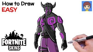 How to Draw Fortnite Skins: Fallen Love Ranger - Easy Drawing Tutorial