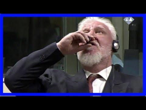 'i am not a war criminal': former bosnian-croat leader praljak drinks 'poison' at un tribunal