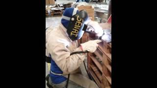 Processo de soldagem tig 2f plana horizontal