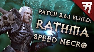 Diablo 3 Season 16 Necromancer Rathma Speed build guide (and bounties) (Patch 2.6.4)