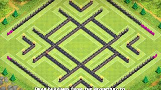 TH10 Farm base (After Update - 275 Walls) - Clash Of Clans