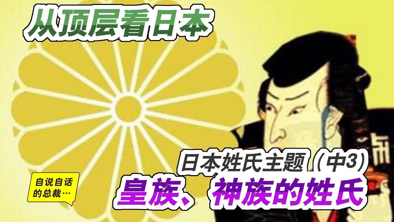姓氏4-4   日本存在中國姓氏的真正原因(中3)從頂層看日本:日本皇族、神族的姓氏   自說自話的總裁