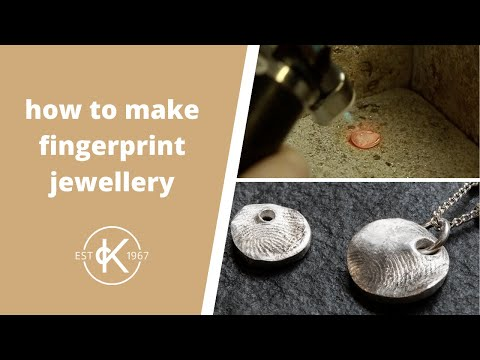How To Make A Fingerprint Pendant With Metal Clay | Kernowcraft