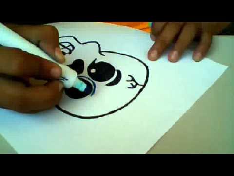 como dibujar una calavera mexicana muy facil