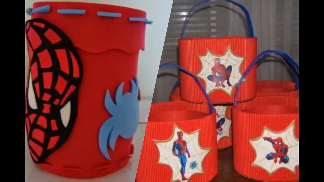 082e77871 Recuerdos y decoraciones de Spiderman para fiestas infantiles. - YouTube