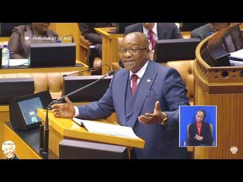 "Jacob Zuma Responds To ""State Capture"" In Parliament"