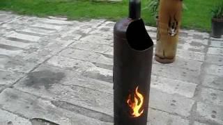 Feuertonne Flammendesign 33kg Gasflasche Terrassenfeuer Feuerkorb Flammen