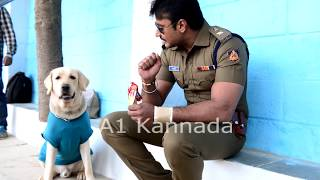 Darshan and DOG Love || Darshan fans Must Watch Video || A1 Kannada Video