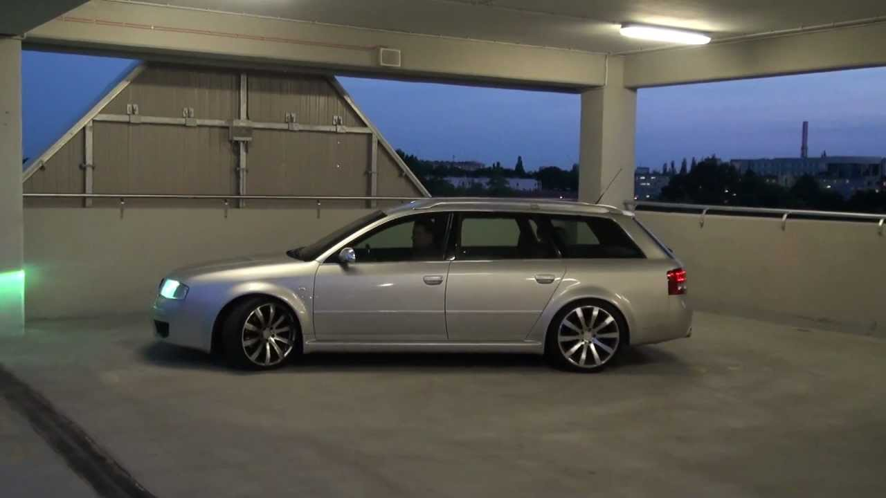 Audi A6 2 0 T >> S6 C5 with RS6 body and LOWTEC H9.2 suspension kit - YouTube