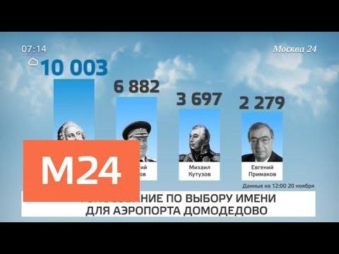 Аэропорт Домодедово могут назвать именем Михаила Ломоносова - Москва 24