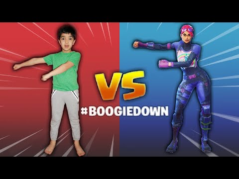 5 YEAR OLD ATTEMPTS THE FORTNITE BOOGIEDOWN CHALLENGE! | FORTNITE DANCES IN REAL LIFE #BOOGIEDOOWN