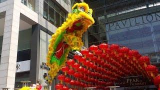 cny 2015 acrobatic lion dance 舞獅 ma ln by kun seng keng pavilion kuala lumpur