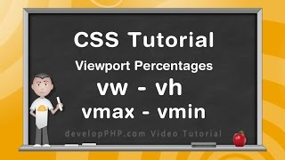 Viewport Percentage Units CSS HTML Layout Tutorial