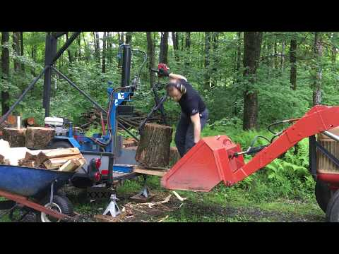Log Splitter and Jib Crane