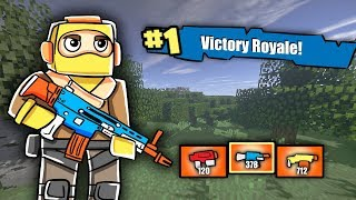 Minecraft - FORTNITE WITH NERF GUNS: Nerf War Challenge! (NERF Battle Royale)