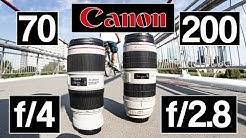Canon 70-200 f/4l IS II vs f/2.8l IS II USM | Welches ist das beste Teleobjektiv?