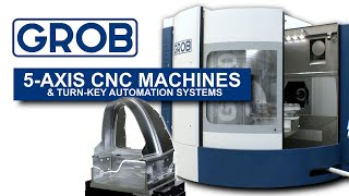 INCREDIBLE 5-Axis CNC Machines:  GROB Factory Tour!