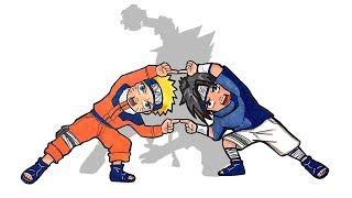 Anime Character Fusion Drawing #2: Naruto and Sasuke Fusion with Dragon Ball Style.