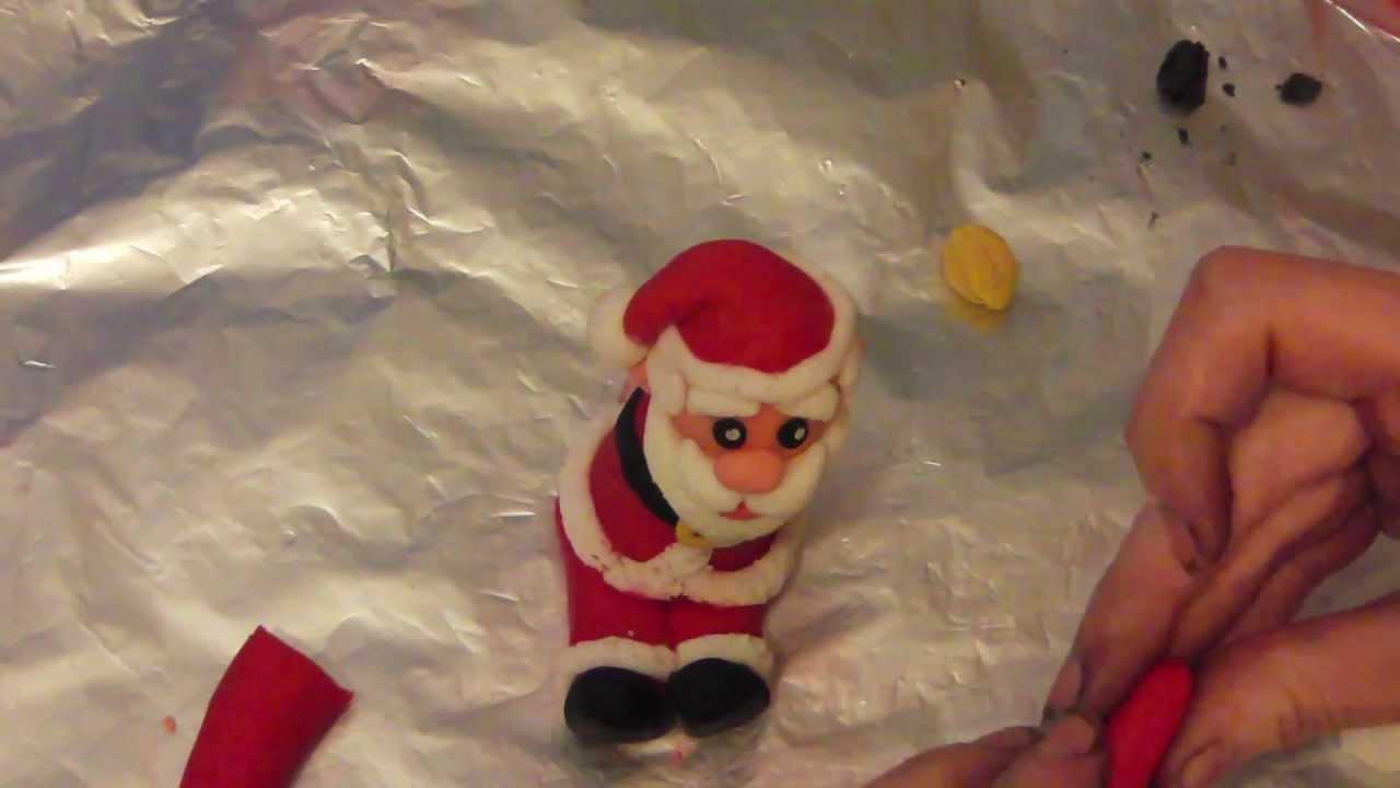 How to make a father christmas cake decoration - How To Make A Santa Christmas Cake Topper